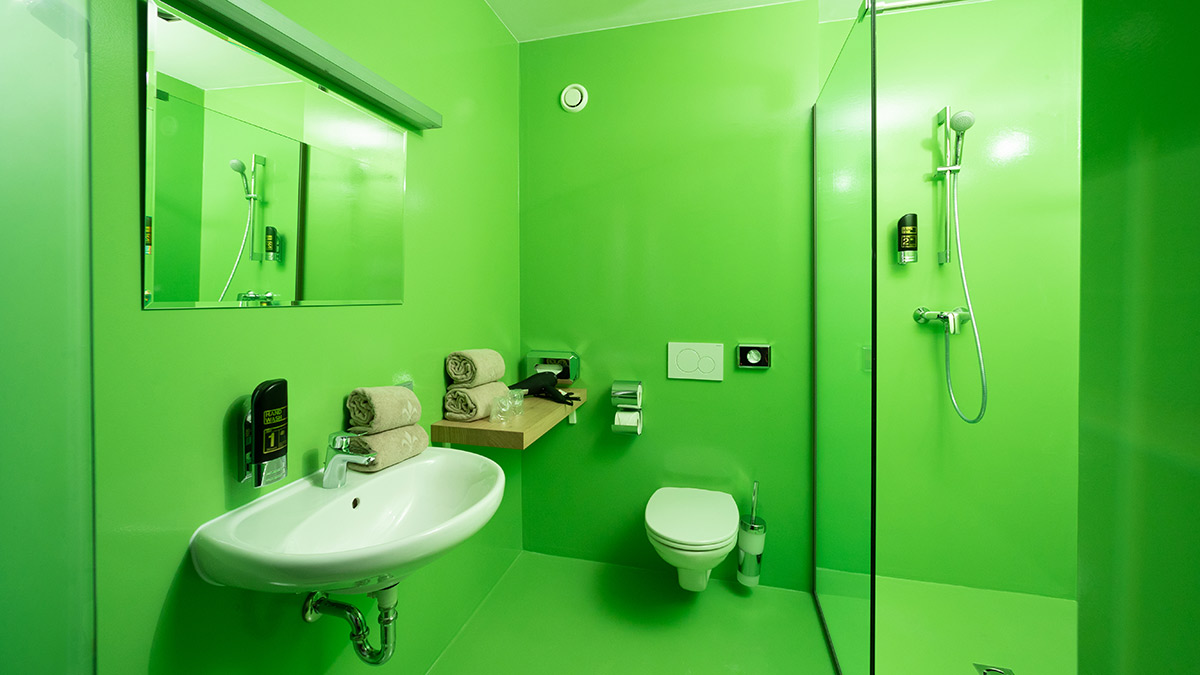 Hotel Greenrooms - Badezimmer