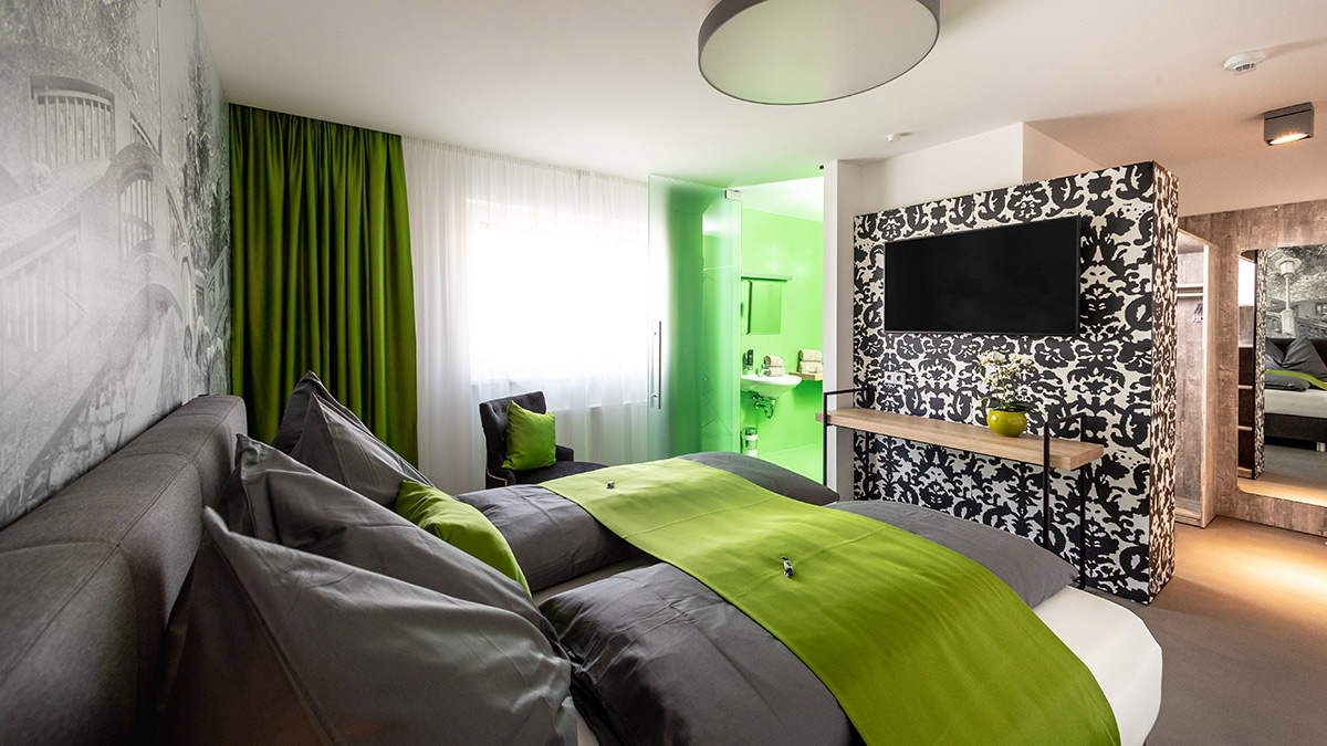 Hotel Greenrooms - Doppelbettzimmer Deluxe