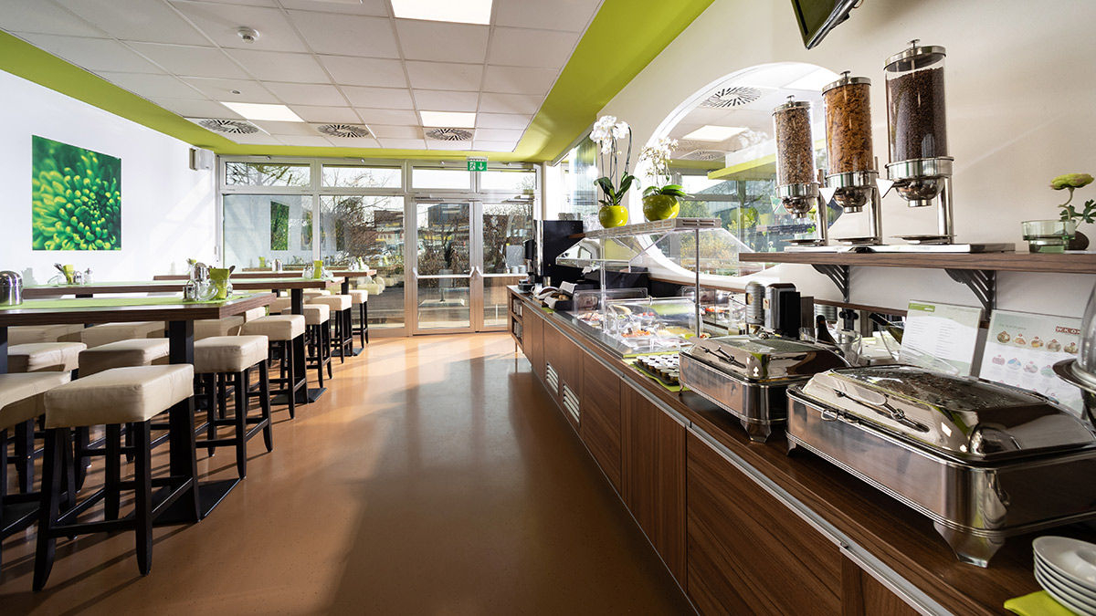 Hotel Greenrooms - Frühstücksraum