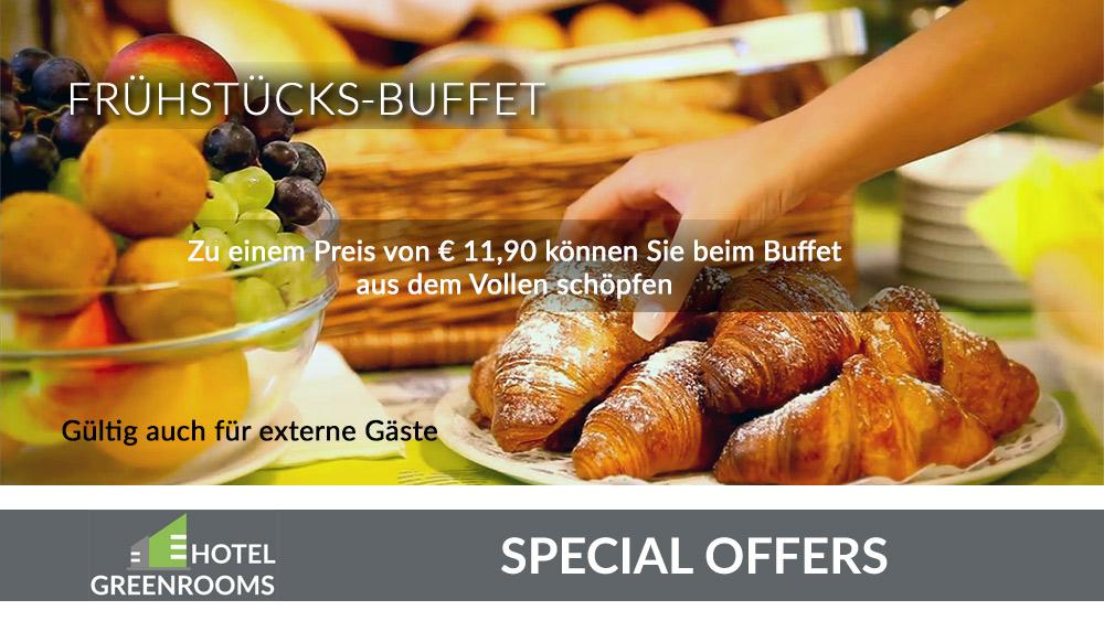 Hotel Graz - Greenrooms - Frühstücksbuffet