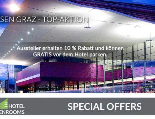 Hotel-Angebot für Grazer Messeaussteller