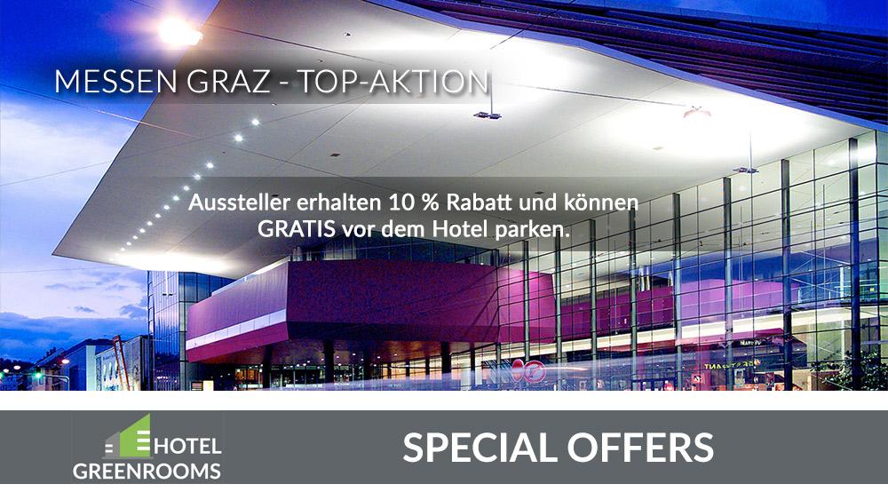 Hotel-Rabatte für Messe-Aussteller im Hotel Greenrooms Graz