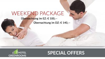 Weekend Package - Übernachtungsangebot Hotel Greenrooms Graz