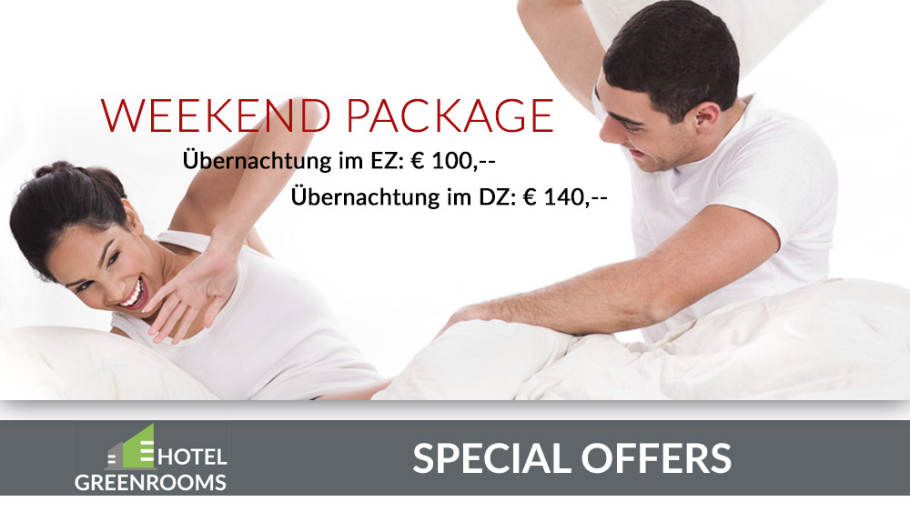 Weekend Package - Übernachtungsangebot Hotel Greenrooms Graz