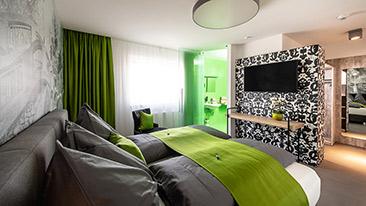 Doppelbett-Zimmer Deluxe buchen - Graz - Variante A - Hotel Greenrooms - Steiermark - Österreich