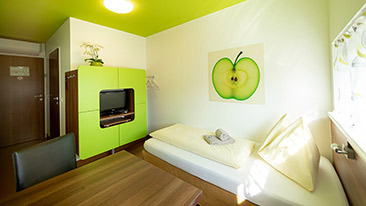 SINGLE ROOMS  - Hotel Greenrooms - Graz - Austria