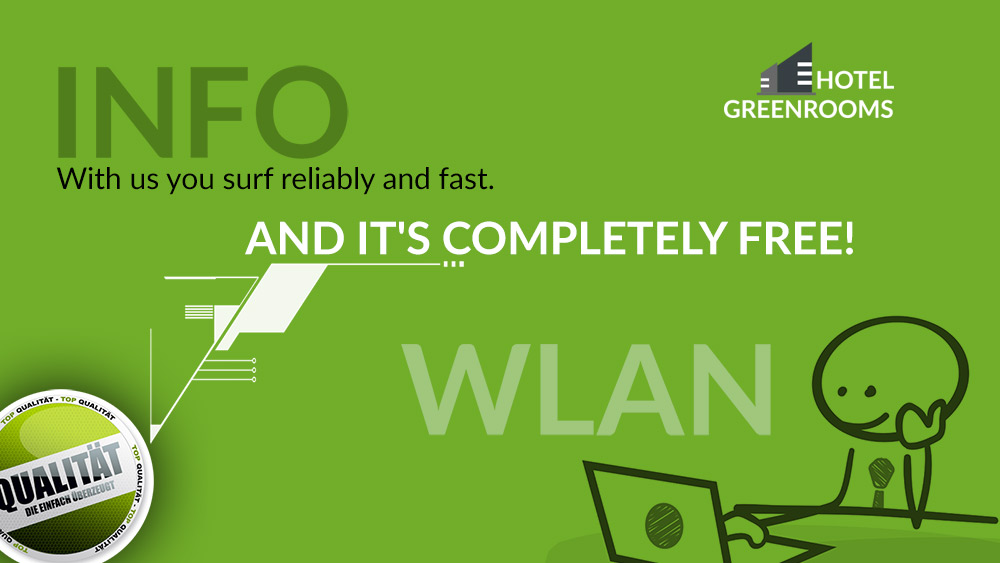 Wlan free of charge - Hotel Greenrooms