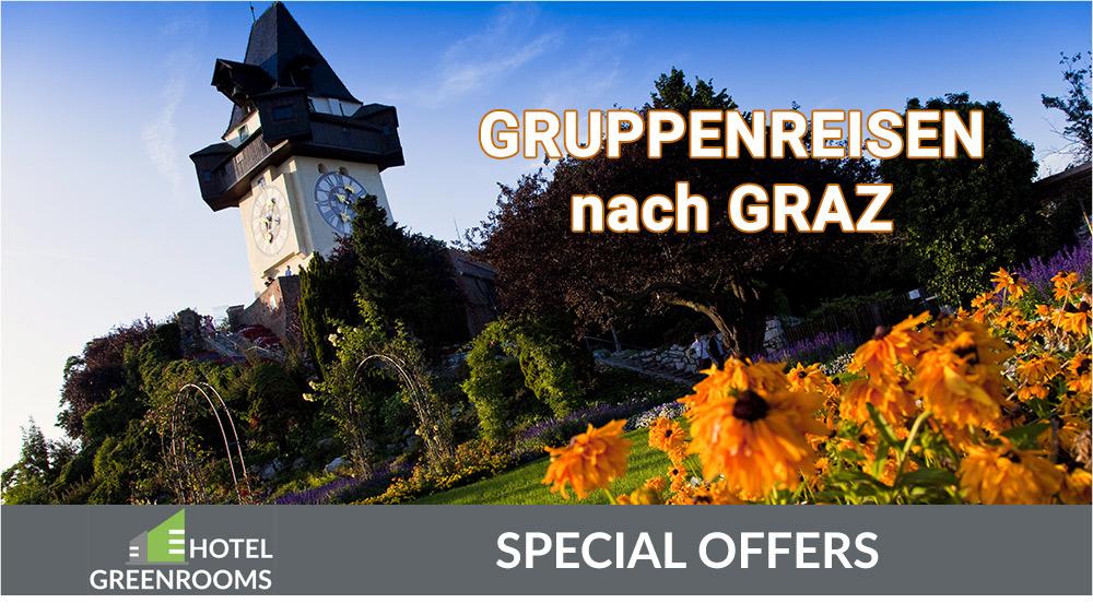 Gruppenreisen und Busreisen nach Graz - Hotel Greenrooms Graz
