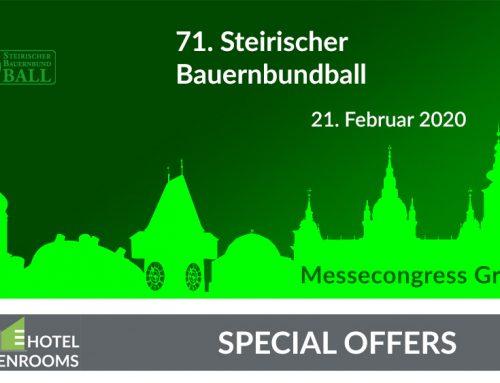 Bauernbundball 2020 – Graz – Hotel-Angebot
