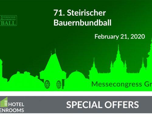 Bauernbundball 2020 – Graz – Hotel-Offer