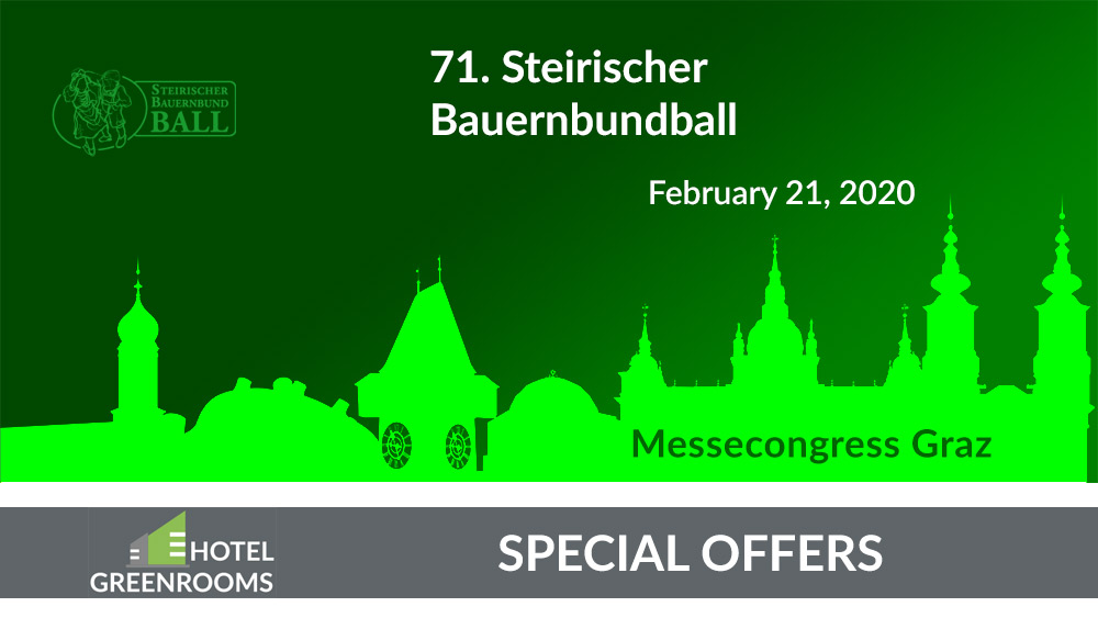 Bauernbundball 2020 - Hotel Graz - Special Offer Hotel Greenrooms - Graz